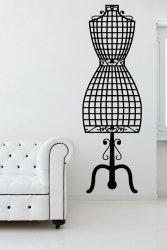 Dressmaker Mannequin Vintage Fashion Wall Sticker Decal
