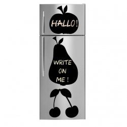 Apple, Pear and Cherries - Amazing Chalkboard Fridge Stickers