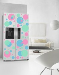 Lots of Lovely Colourful Circles - Fridge Kitchen Removable Stickers