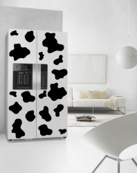 Cow Patches - Fridge Print Waterproof  Refrigerator Stickers