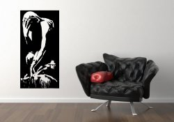 Banksy - A mural of a crying figure in Gaza 2015 - Vinyl Wall Sticker
