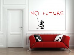 Banksy Graffitti 2016 - No future - Amazing Wall Stickers Decals