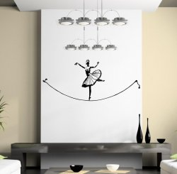 Banksy Ballet Tightrope Walker - Fine Wall Sticker Art Decal