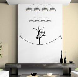 Banksy Ballet Tightrope Walker - Fine Wall Sticker Art Decal