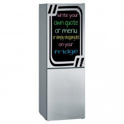 Chalkboard fridge sticker + free chalks and sponge. Four lovely colours availabl