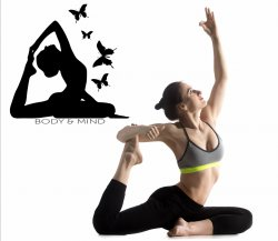 YOGA Body and Mind  - Stunning YOGA Wall Sticker Decal