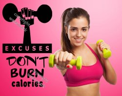 Excuses don't burn calories - Premium Motivational Gym Wall Sticker