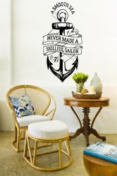 A Smooth Sea Never Made A Skillful Sailor - Motivational Wall Sticker