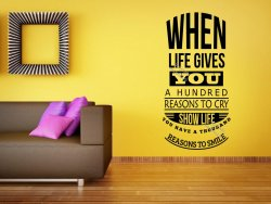 When life gives you a hundred reasons to cry... Motivational Wall Sticker