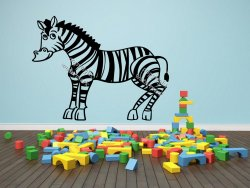 Cute Zebra - Kids Room Decor Wall Sticker