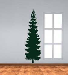 Perfect pine real size wall sticker