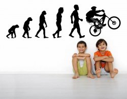 Evolution MTB Full Suspension Bike Maniacs Must Have Wall Sticker