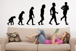 Evolution Run Runner Jogging Large Removable Wall Sticker