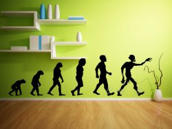 Evolution Series - Zombie Evolution - Funny Wall Sticker, Decal, transfer