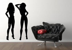 Two Sexy Ladies Attractive Womens Realistic Large Wall Sticker