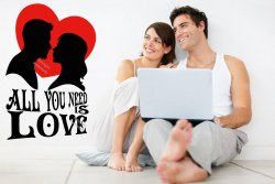 All You Need Is Love - A Couple With Heart Valentines Wall Sticker