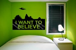 I Want to Believe The X-Files Conversion to Wall Sticker Decal Removable Wall De