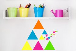Set Of Stylish Triangles Scandinavian Style Wall Car Laptop Stickers