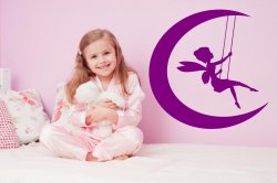 Beautiful Swinging Tinkerbell Wall Sticker for kids, Decal for girls room