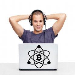 Bitcoin Logo Atom Crypto Wall Sticker Removable Car Laptop Shop Decal