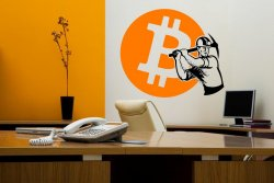 Stunning Wall Sticker BITCOIN MINER - Minning room decor, brokers decal, bitcoin
