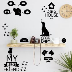 Dogs World Cute Set Of Stickers Perfect For Dog Lovers Premium Quality Decals