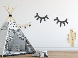Scandi Cute Eyes Eyelashes Nordic Hygge Scandinavian Style Wall Sticker