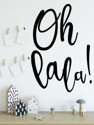 'Oh Lala!' Wall Sticker Quote Scandi Minimalist Home Decor