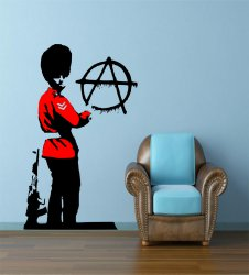 Banksy Anarchist Soldier Unique Banksy Decal