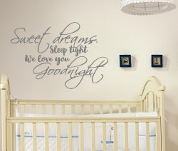 Sweet Dream Sleep Tight We Love You Goodnight Stunning Decal Scandi Style