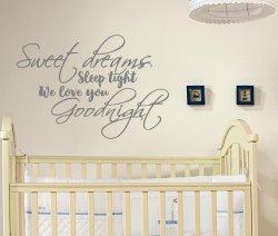 Sweet Dream Sleep Tight We Love You Goodnight Stunning Decal Scandi Style