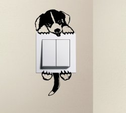 Designer - Cute Dog Baby BEAGLE Pet Light Switch Sticker