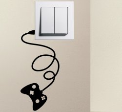 Desinger - GAMEPAD light switch funny wall decal