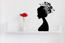 'Flower Women' - Beautiful Wall Sticker