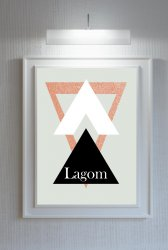 Lagom Triangles Scandinavian Nordic Style Poster