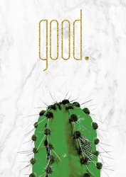 Stylish Cactus GOOD with Marble Background Scandi Poster