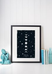 Moon Poster 'You are Magical' Scandi Premium Black and White Print