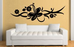 Butterfly Ornament Giant Wall Pattern