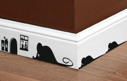 Designer - Mouses And Mouse Hole - Fabulous Vinyl Sticker