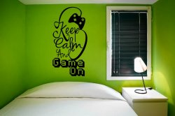 Designer - 'Keep Calm and Game On' - Gamer Room Wall Decoration