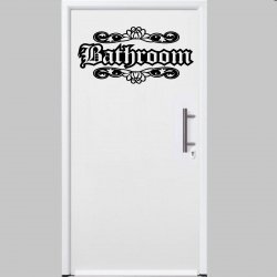 Designer - Bathroom - Door / Wall Ornamental Sticker