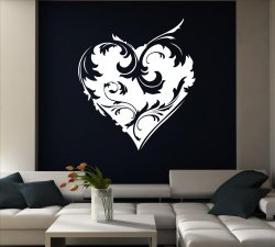 Ornamental Heart Art Pattern