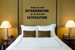 JC Design 'Wake Up With Determination...' Large Quote Wall Decoration