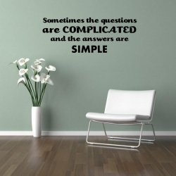 JC Design 'Sometimes the questions are complicated...' Large Wall Sticker