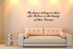 JC Design 'The future belongs to those...' Large Inspiring Wall Sticker