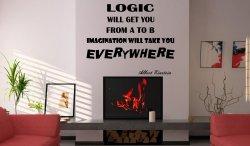 JC Design 'Logic - Imagination' Albert Einstein Quote Wall Decor