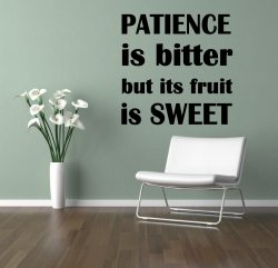 JC Design 'Patience is bitter but its fruit is sweet' - Motivational Wall Sticke
