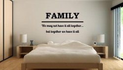 JC Design 'FAMILY - We may not have it all together...' Large Vinyl Decal