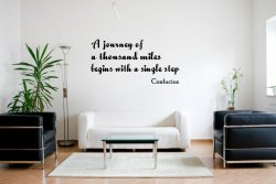 JC Design 'A journey of a thousand miles...' Confucius Quote Wall Decal