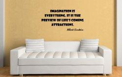 JC Design 'Imagination is everything...' Albert Einstein Quote Wall Sticker